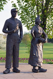 Statues of Dutch couple Royalty Free Stock Photography