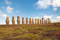 Statues at easter island Stock Images