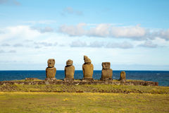 Statues at easter island Royalty Free Stock Photography