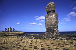 Statues on Easter Island. Stock Image