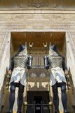 Statues of Egyptian God Anubis- God of afterlife. royalty free stock photography