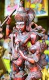 Statues en bois antiques sri-lankaises image libre de droits