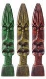 Statues en bois jamaïcaines Photographie stock libre de droits
