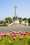 Statues en bronze sur le mémorial de guerre Photographie stock libre de droits