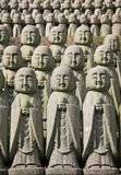 Statues en pierre de Jizo Photo libre de droits