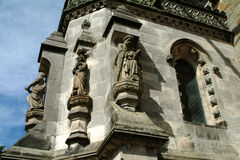 Statues At Entrance To Rosslyn Chapel, Scotland Royalty Free Stock Photography