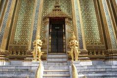 Statues, Entrance. Wat Phra Kaew, Bangkok, Thailand Royalty Free Stock Photography