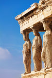 Statues of Erechtheion in Athens, Greece Stock Photo