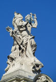 Statues in European arcitecture Royalty Free Stock Photography