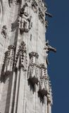 Statues on the facade of a church Royalty Free Stock Images