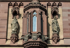 Statues on the facade at Dragon Castle Royalty Free Stock Photo