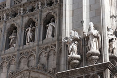 Statues in the facade Royalty Free Stock Photography