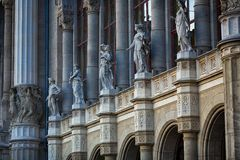 The statues on the facade Royalty Free Stock Photography