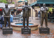 Statues of famous Jazz musicians in New Orleans - NEW ORLEANS, LOUISIANA - APRIL 18, 2016. Statues of famous Jazz musicians in New Orleans Royalty Free Stock Images