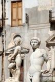 Statues from the fontana della vergogna, palermo. Statues of the fontana della vergogna, by francesco camilliani, pretoria square palermo, sicily, portrait cut Stock Photos
