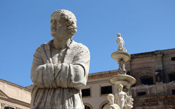 Statues from the fontana della vergogna, palermo Royalty Free Stock Photos