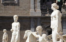 Statues from the fontana della vergogna, palermo Royalty Free Stock Photo
