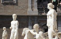 Statues from the fontana della vergogna, palermo. Some of the statues of the fontana della vergogna, by francesco camilliani, pretoria square palermo, sicily Royalty Free Stock Photo