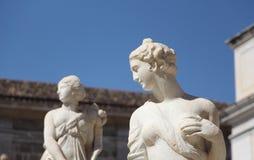 Statues from the fontana della vergogna, palermo. Some of the statues of the fontana della vergogna, by francesco camilliani, pretoria square palermo, sicily Royalty Free Stock Photos