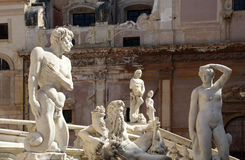 statues from the fontana della vergogna, palermo Royalty Free Stock Images