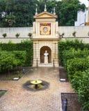 Statues Fountain Alcazar Royal Palace Seville Stock Image