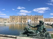 Statues of the Versailles Palace stock image