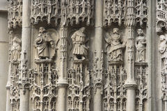 Statues French church Royalty Free Stock Photography