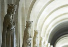 Statues of French kings Royalty Free Stock Image