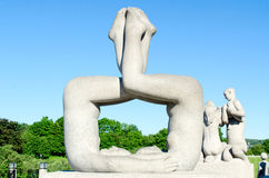 Statues at Frogner Park Oslo Norway Royalty Free Stock Photos
