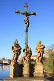 Statues From Oldest Stone Bridge In Central Europe, Pisek Stock Image