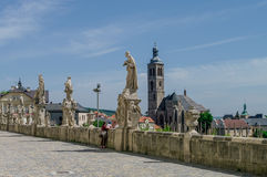 Statues in front of Jesuit College in Kutna Hora, Czech Republic Stock Photography