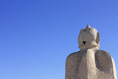 Statues of Gaudí. Barcelona Royalty Free Stock Photography