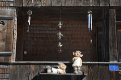 Statues and glockenspiel at a chalet Stock Photos