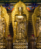Statues of gods. Statue of the god of religion in China Royalty Free Stock Image