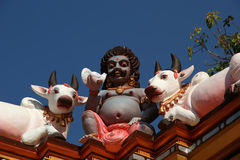 Statues of gods and goddesses in the Hindu temple Royalty Free Stock Photography