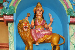 Statues of gods and goddesses in the Hindu temple Royalty Free Stock Image