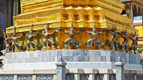 Statues in grand palace in bangkok Royalty Free Stock Photo