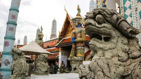 Statues in Grand palace in Bangkok. stock image