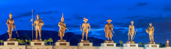 Statues Great King's of Thailand in Rajabhakti Park Stock Photos