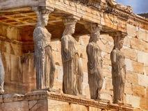 Statues grecques de parthenon Image stock