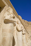 Statues at Hatshepsut Temple. Statues of pharaohs at Temple of Hatshepsut Stock Photography