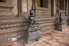 Statues at Haw Pha Kaew temple Royalty Free Stock Photo