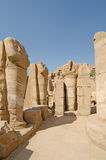 Statues of headless pharaoh in the temple of Amun at Karnak, Luxor in Egypt Royalty Free Stock Image