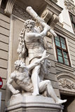 The statues of Hercules in Vienna, Austria Royalty Free Stock Images