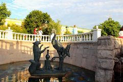 Statues of heroes of Russian fairy tales on Manezh Square Royalty Free Stock Photos