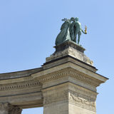 Statues of the heroes square, budapest Stock Photo