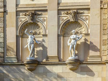 Statues at the Hessisches Staatstheater Wiesbaden Royalty Free Stock Photos