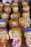 Statues heureuses riantes de fille Images libres de droits