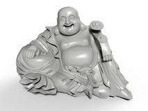Statues heureuses se reposantes de Bouddha illustration de vecteur
