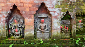 Statues of Hindu Deities on a public monument. Bhaktapur, Nepal Royalty Free Stock Photography